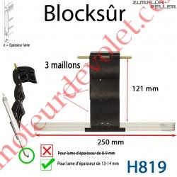 Verrou Automatique Blocksûr de 3 Maillons pour Lame 13-14 mm d'épaisseur