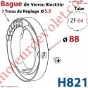 Bague de Verrou Automatique Blocksûr pr tube ZF 64 ø Ext 88 mm Av 1 Vis 4,2x12,7