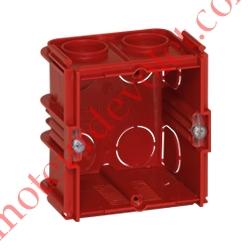 Boîte d'encastrement Carrée Monoposte Associable Profondeur 50 mm pour Maçonnerie