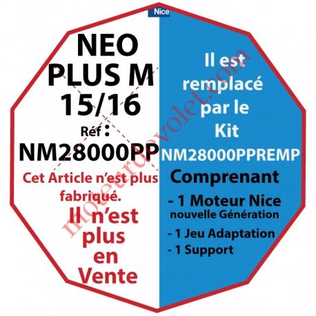 Moteur Nice Radio NéoPlus M 15/16 Radio  sans Mds