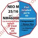 Moteur Nice Filaire Néo M 25/16 M 50 sans Mds rempacé par NM46000REMP