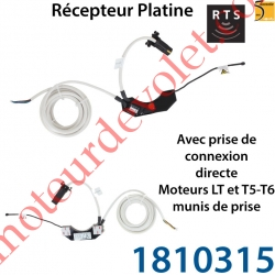 Récepteur platine Rts ou Hz Etanche ip44 avec Prise de Connexion Directe Moteur LT & T5-T6 munis de prise