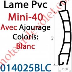 Lame Pvc Double Paroi Mini-40 de 40 x 9,3 Coloris Blanc Avec Ajourage