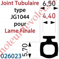 Joint Noir Tubulaire Bi-Dureté JG1044 Talon 4,4 mm à Monter sur Lame Finale, le mètre