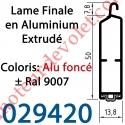 Lame Finale Aluminium 51 x 14 mm à Grand Crochet Coloris ± Ral 9007 Alu Foncé