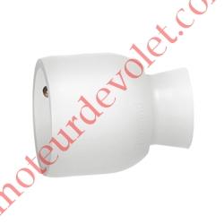 Prise Electrique Femelle 2 P + T 16 A IP 40 en Plastique Blanc à Sortie Droite