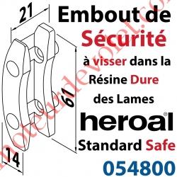 Embout S (Sécurité) de lame Standard Safe Rempart