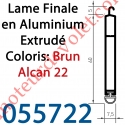 Lame Finale Aluminium 60 x 8 mm Coloris Brun Alcan 22