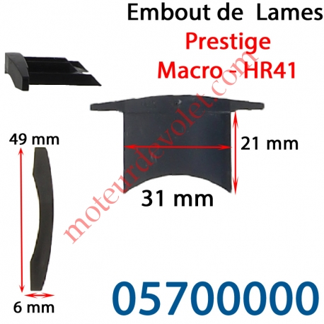 Embout de lames Macro & Hr41 à Enfoncer Sans Fraiser