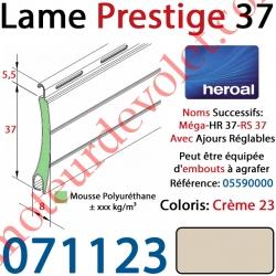 Lame Alu Double Paroi Injectée de Mousse de Polyuréthane Hr37 de 37x8 Coloris Crème 23 Avec Ajourage