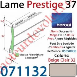 Lame Alu Double Paroi Injectée de Mousse de Polyuréthane Hr37 de 37x8 Coloris Beige Clair 32 Avec Ajourage