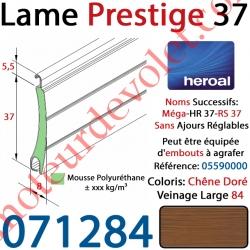 Lame Alu Double Paroi Injectée de Mousse de Polyuréthane Hr37 de 37x8 Coloris Chêne Doré Veinage Large 84 Sans Ajourage