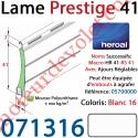 Lame Alu Double Paroi Injectée de Mousse de Polyuréthane Hr41 de 41x8,5 Coloris Blanc 16 Avec Ajourage
