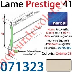Lame Alu Double Paroi Injectée de Mousse Polyuréthane Hr41 de 41x8,5 Coloris Crème 23 Avec Ajourage