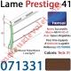 Lame Alu Double Paroi Injectée de Mousse Polyuréthane Hr41 de 41x8,5 Coloris Teck 31 Avec Ajourage