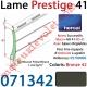 Lame Alu Double Paroi Injectée de Mousse Polyuréthane Hr41 de 41x8,5 Coloris Bronze 42 Avec Ajourage