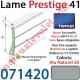 Lame Alu Double Paroi Injectée de Mousse Polyuréthane Hr41 de 41x8,5 Coloris Alu Naturel Sans Ajourage