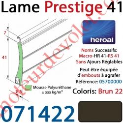 Lame Alu Double Paroi Injectée de Mousse Polyuréthane Hr41 de 41x8,5 Coloris Brun Sans Ajourage
