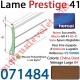 Lame Alu Double Paroi Injectée de Mousse Polyuréthane Hr41 41x8,5 Coloris Chêne Doré Veinage Large Sans Ajourage