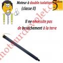 Moteur Ariés Court C2 4/14 Sans Carré LS 40 sans Mds Double Isolation Classe II