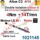 Moteur Altus C2 4/14 Rts Sans Carré LS 40 sans Mds Double Isolation Classe II