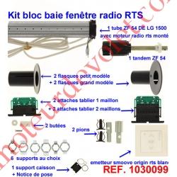 Kit de Modernisation Somfy Bloc Baie Fenêtre Radio Rts
