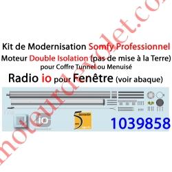 Kit de Modernisation Somfy Double Isolation Fenêtre Radio io