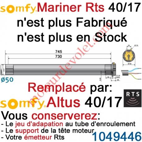 Moteur Mariner 40/17 Rts ou Rts2 LT 50 sans Mds
