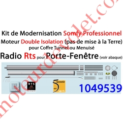Kit de Modernisation Somfy Double Isolation Porte-Fenêtre Radio Rts