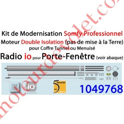Kit de Modernisation Somfy Double Isolation Porte-Fenêtre Radio io