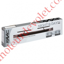 Night and Day Kit Volet 1 ou 2 Vantaux Coloris Blanc ± Ral xxxx (1 Moteur av Arm Intégrée, 2 bras xx, 1 émetteur)