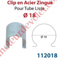 Clip en Acier Zingué pour Tube Lisse ø 18 mm