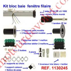 Kit de Modernisation Somfy Bloc Baie Largeur Maxi 1500mm Filaire