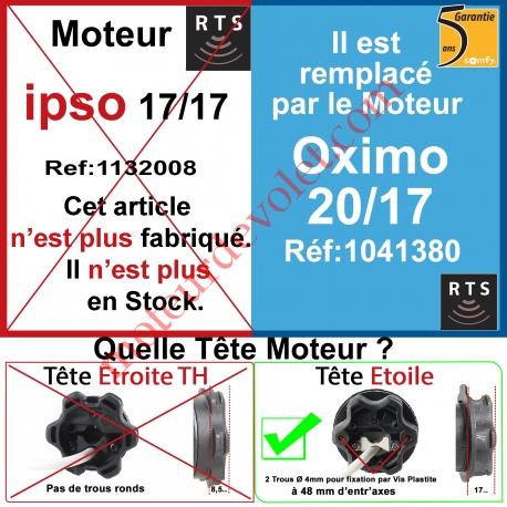 Moteur Ipso 17/17 Rts ou Rts2 LT 50 sans Mds