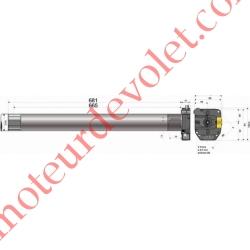 Moteur Somfy Titan Csi 100/12 LT 60  Avec Mds
