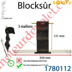 Verrou Automatique Blocksûr de 3 Maillons pour lame 13-14 mm