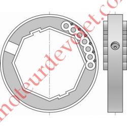 Bague de Verrou Automatique Blocksûr pour tube Octo 60 ø Ext 88 mm
