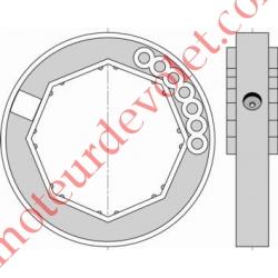 Bague de Verrou Automatique Blocksûr pour tube Octo 70 ø Ext 104 mm