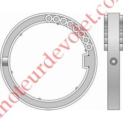Bague de Verrou Automatique Blocksûr pour tube Deprat 89 ø Ext 113 mm