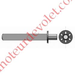 Axe carré de 13 mm ø 14 mm pour Moteur Phœnix pour Embout Sans Axe