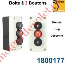 Boîte à 3 Boutons Montée No - Stop Nc - Descente No Etanche