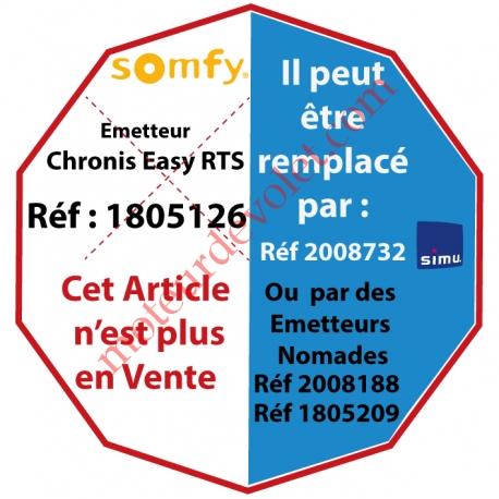 Emetteur Mural Horloge Chronis Easy Rts