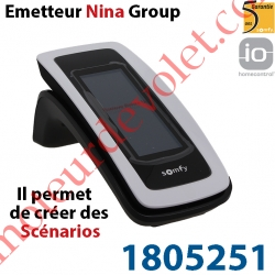 Emetteur Nina Group io pour commander jusqu'à 60 équipements répartis en 30 groupes de produits maximum