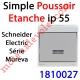 Poussoir Etanche Schneider Electric série Mureva en Saillie ip 55