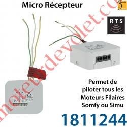 Micro Récepteur Somfy Rts pour Volet Roulant à intégrer derrière l'inverseur Filaire ip20