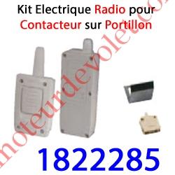 Contact Electrique Radio sur portillon de Porte Basculante ou Sectionnelle