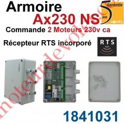 Armoire Ax230 NS pour Commander 2 moteurs 230 vca Récepteur Rts Incorporé