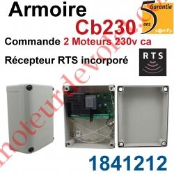 Armoire Cb 230 Rts pour Commander 2 moteurs 230 vca Récepteur Rts Incorporé