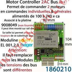 Motor Controller 2AC 230 VAC Bus IB+ Modèle PCB (Montage en Armoire sur Rail Din)