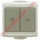 Inverseur Niko Etanche ip 55 en Applique à Position Fixe  (remplacé par ENN35041)